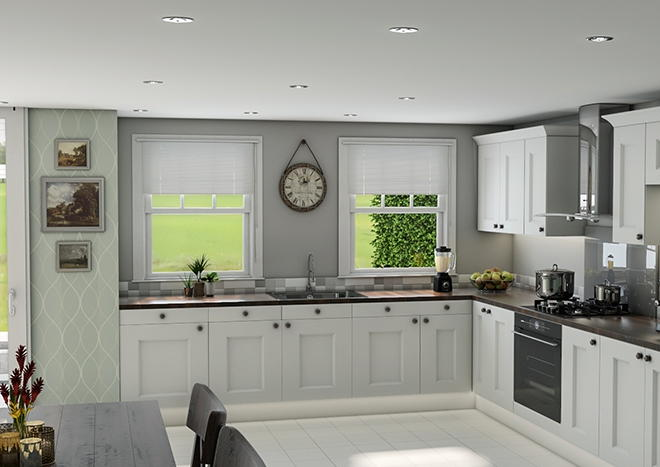 Kingston TrueMatt Light Grey Kitchen Doors