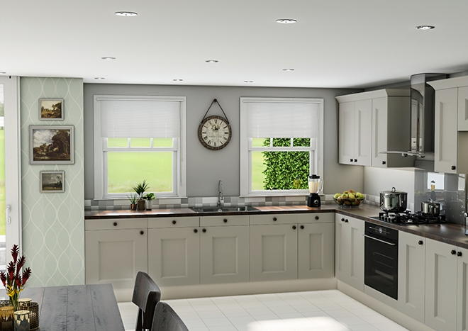Kingston TrueMatt Pebble Kitchen Doors