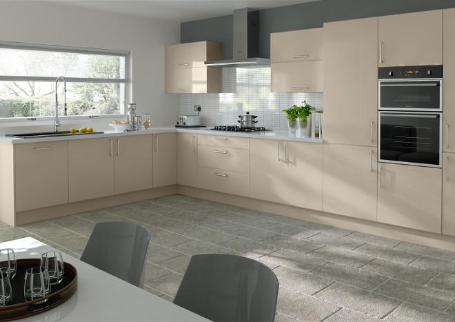 Lewes Matt Cashmere Kitchen Doors