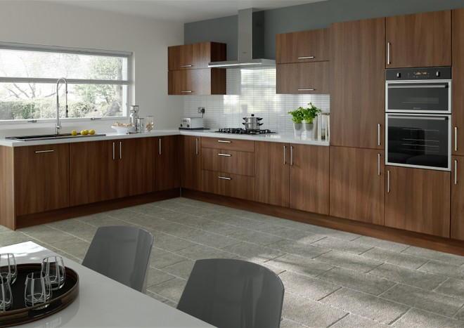 Lewes Dark Walnut Kitchen Doors Made, Dark Walnut Kitchen Cabinets