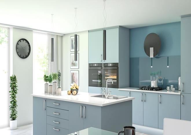 Lewes Denim Blue Kitchen Doors