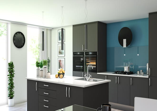 Lewes Graphite Kitchen Doors
