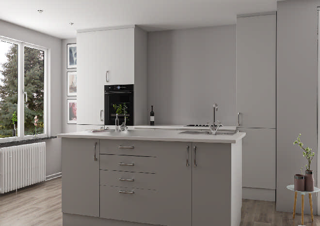 Lewes Light Grey Kitchen Doors