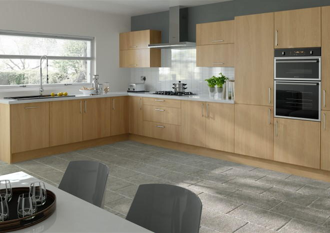 Lewes Lissa Oak Kitchen Doors
