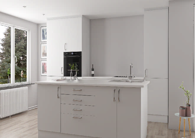 Lewes Paintable Vinyl Kitchen Doors