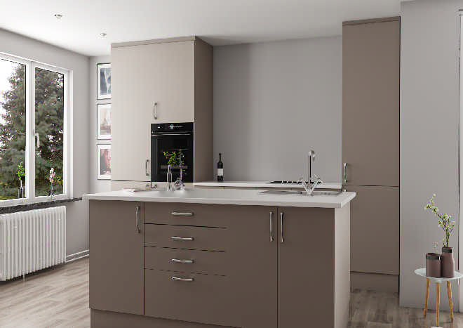 Lewes Stone Grey Kitchen Doors