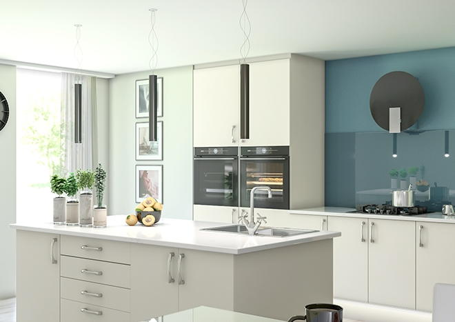 Lewes TrueMatt Alabaster Kitchen Doors