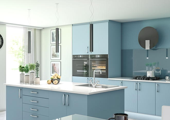 Lewes TrueMatt Denim Kitchen Doors