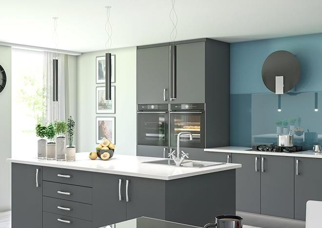 Lewes TrueMatt Graphite Kitchen Doors