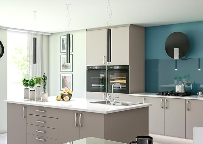 Lewes TrueMatt Stone Grey Kitchen Doors