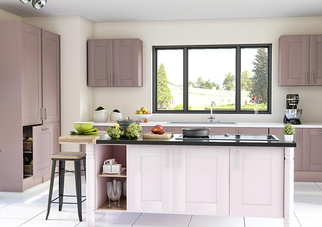 Mayfield TrueMatt Dusky Pink Kitchen Doors