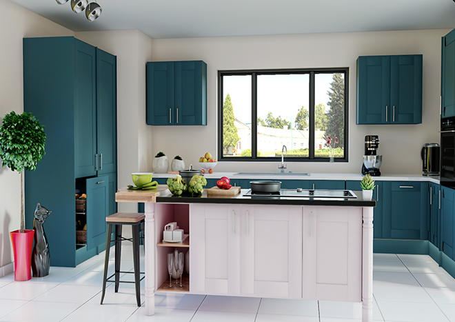 Mayfield TrueMatt Marine Blue Kitchen Doors