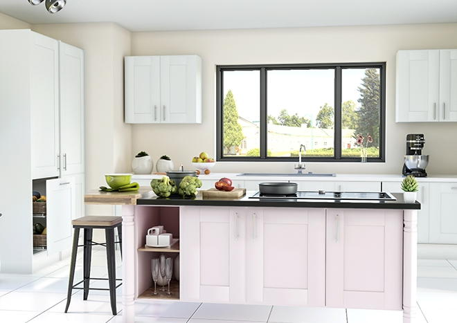 Mayfield TrueMatt White Grey Kitchen Doors