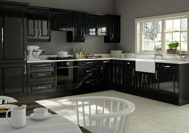 midhurst high gloss black kitchen doors from made to measure