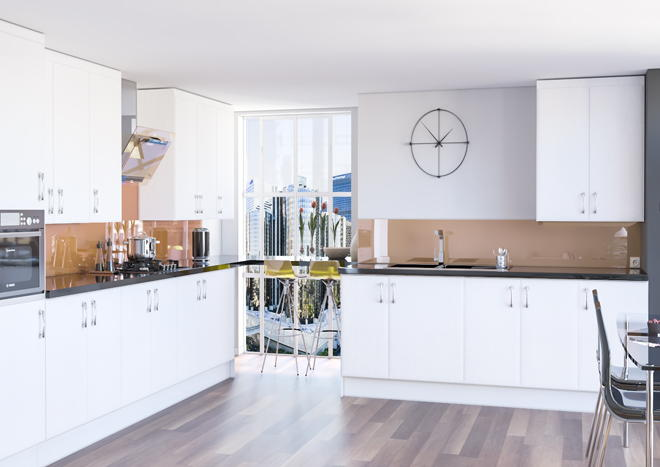 Newick Legno Linen Kitchen Doors