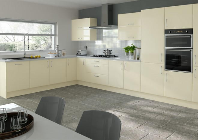 Newick Legno Magnolia Kitchen Doors