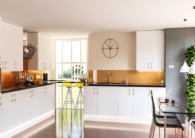 Newick Porcelain White Kitchen Doors