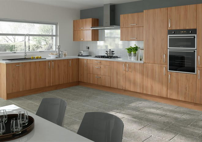 Newick Tiepolo Light Walnut Kitchen Doors