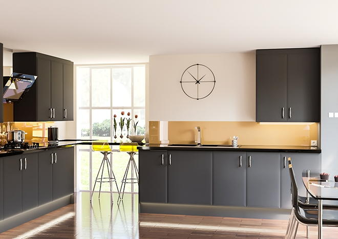 Newick TrueMatt Graphite Kitchen Doors