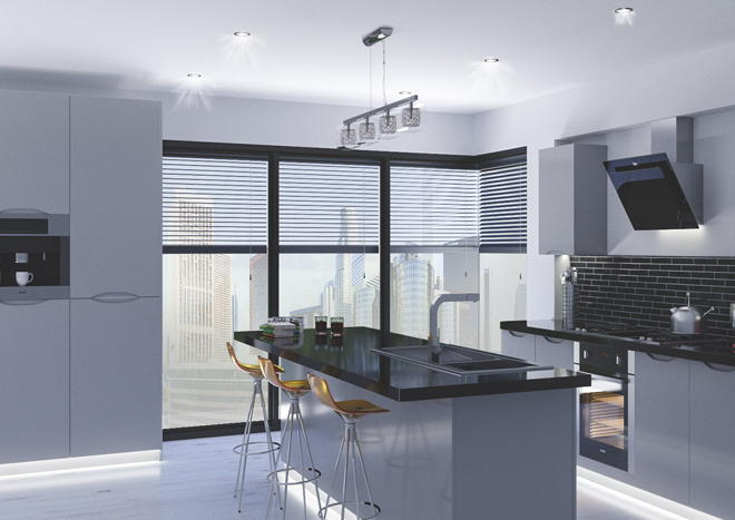 Petworth High Gloss Silver Kitchen Doors