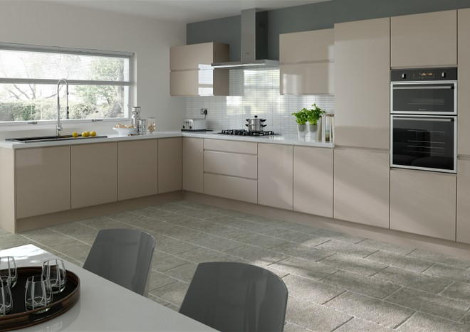 Ringmer High Gloss Cappuccino Kitchen Doors