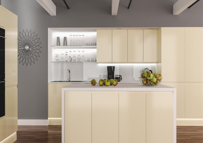 Ringmer High Gloss Ivory Kitchen Doors Made To Measure From Pound 5 19