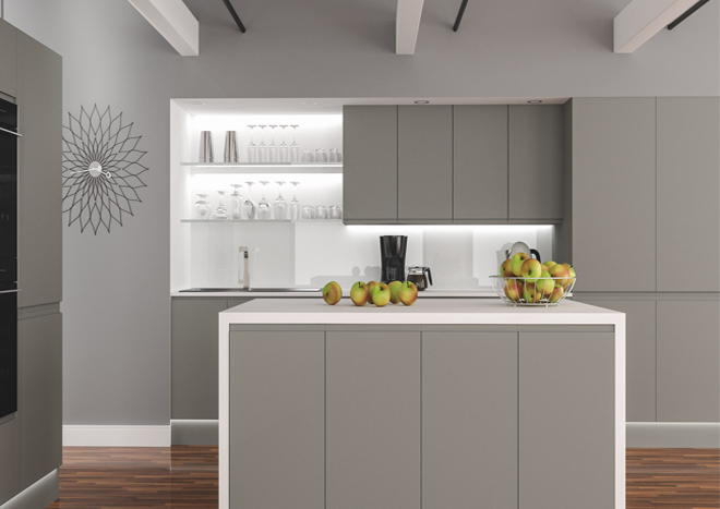 Ringmer Pebble Grey Kitchen Doors