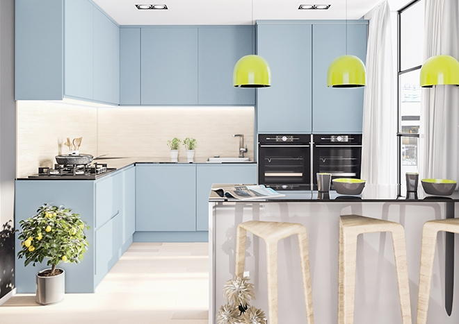 Ringmer TrueMatt Denim Kitchen Doors