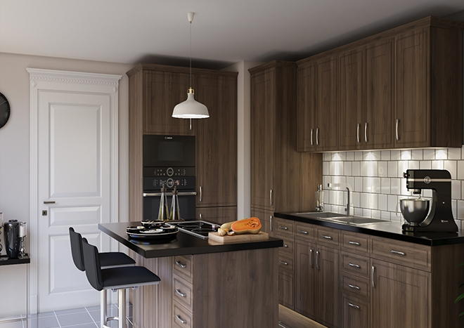 Singleton Dark Walnut Kitchen Doors