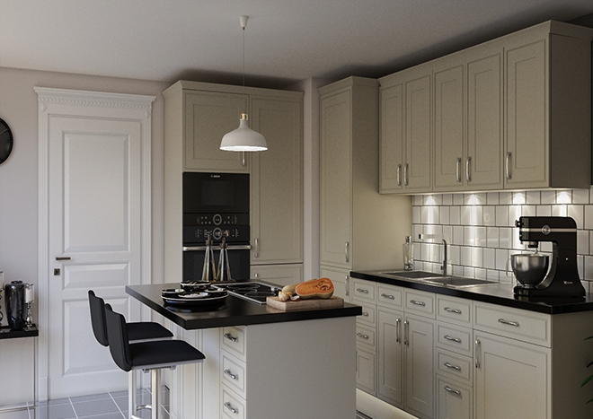 Singleton Ivory Kitchen Doors