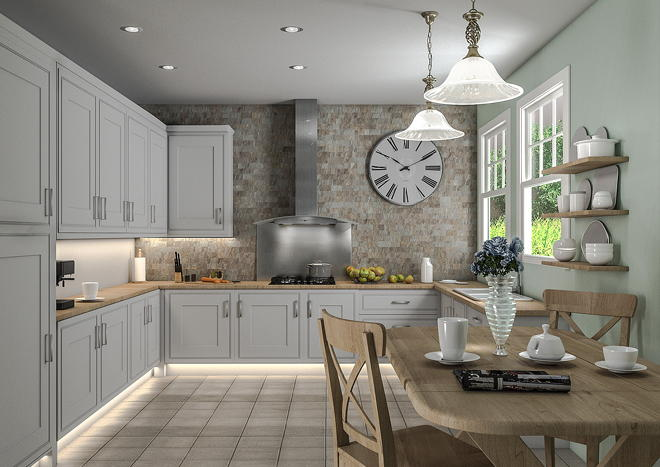 Singleton Light Grey Kitchen Doors Made To Measure From - Light grey kitchen doors