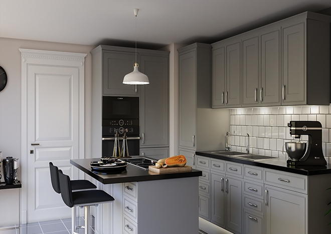 Singleton Pebble Grey Kitchen Doors