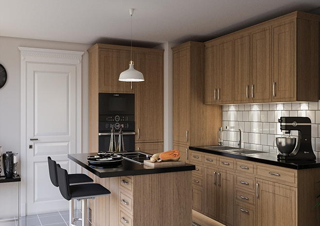 Singleton Pippy Oak Kitchen Doors