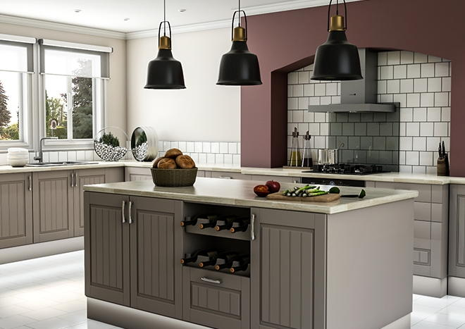 Storrington TrueMatt Stone Grey Kitchen Doors
