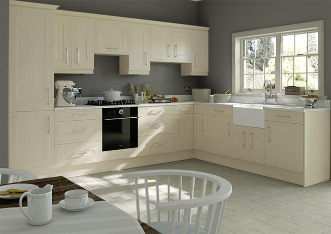 Ticehurst Cream Ash Kitchen Doors
