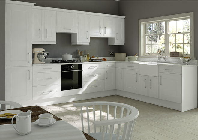 Ticehurst Silk White Kitchen Doors