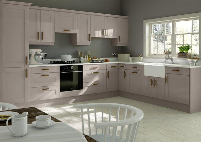 Washington High Gloss Stone Grey Kitchen Doors