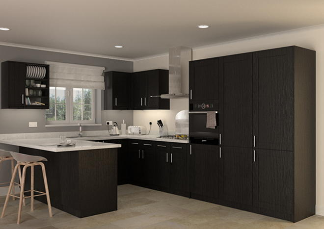 Washington Legno Jet Kitchen Doors