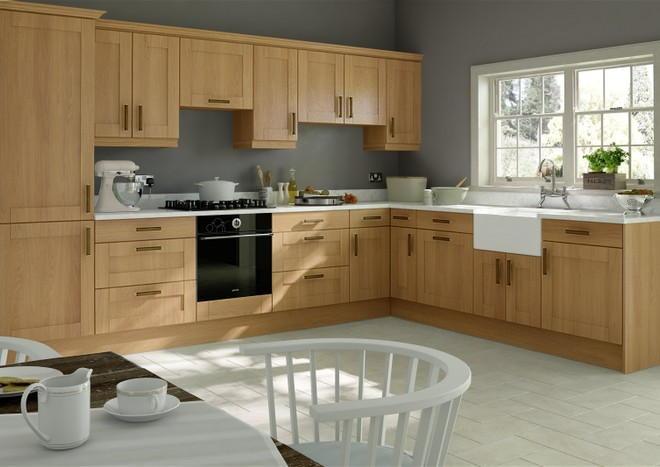 Washington Shaker Kitchen Doors in Lissa Oak