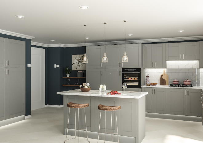 Washington Pebble Grey Kitchen Doors