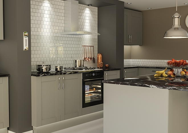 Washington TrueMatt Dust Grey Kitchen Doors