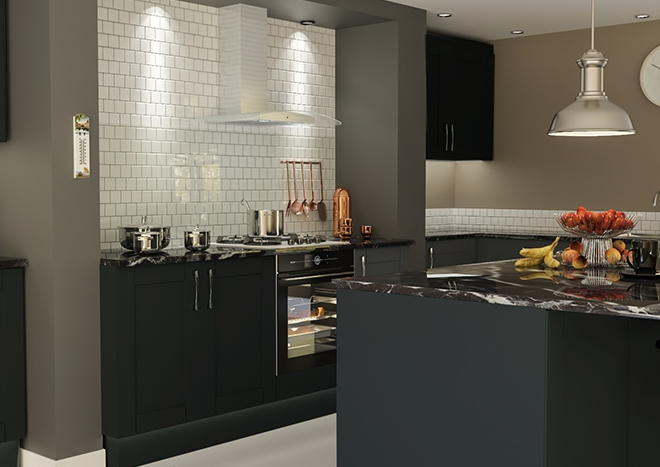 Washington TrueMatt Graphite Kitchen Doors