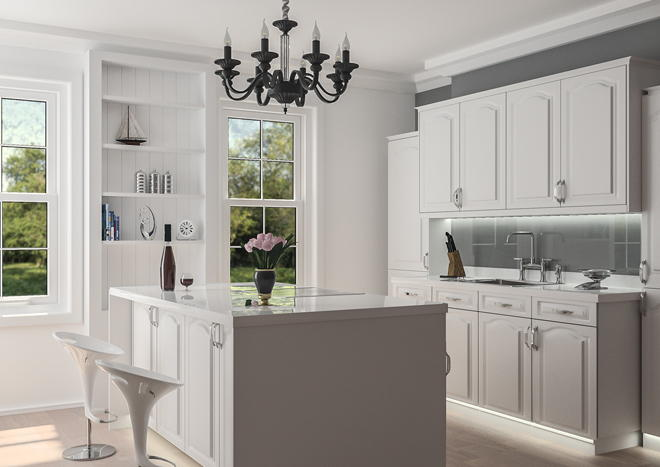 Superior Westfield Silk White Kitchen Doors ...