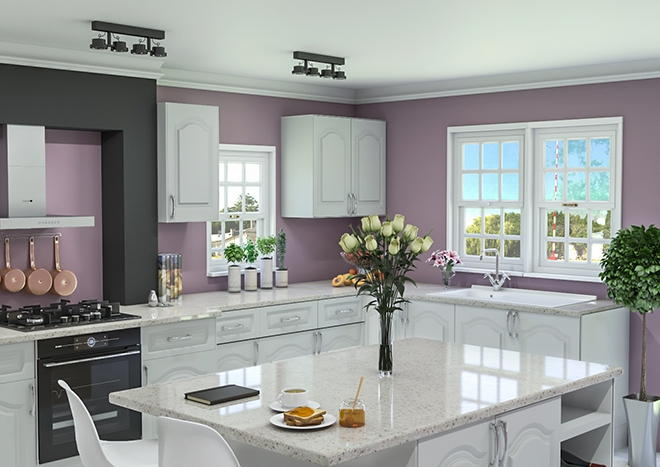Westfield TrueMatt White Grey Kitchen Doors