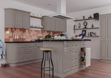 Amberley High Gloss Stone Grey Kitchen Doors