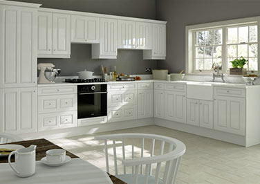 Amberley High Gloss White Kitchen Doors