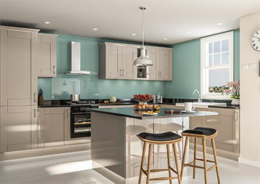 Arlington High Gloss Stone Grey Kitchen Doors