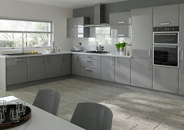 Brighton High Gloss Anthracite Kitchen Doors