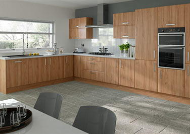 Brighton Tiepolo Light Walnut Kitchen Doors