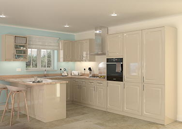 Buxted High Gloss Cappuccino Kitchen Doors